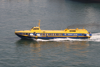 2011 - Hydrofoil FLYING DOLPHIN ATHINA departing from Piraeus.