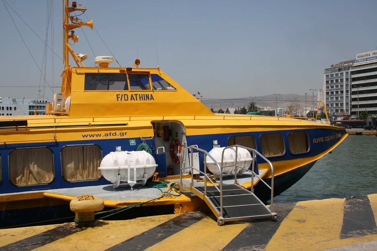 2011 - Hydrofoil FLYING DOLPHIN ATHINA moored in Piraeus.