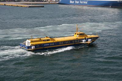2011 - Hydrofoil FLYING DOLPHIN ATHINA arriving to Piraeus.