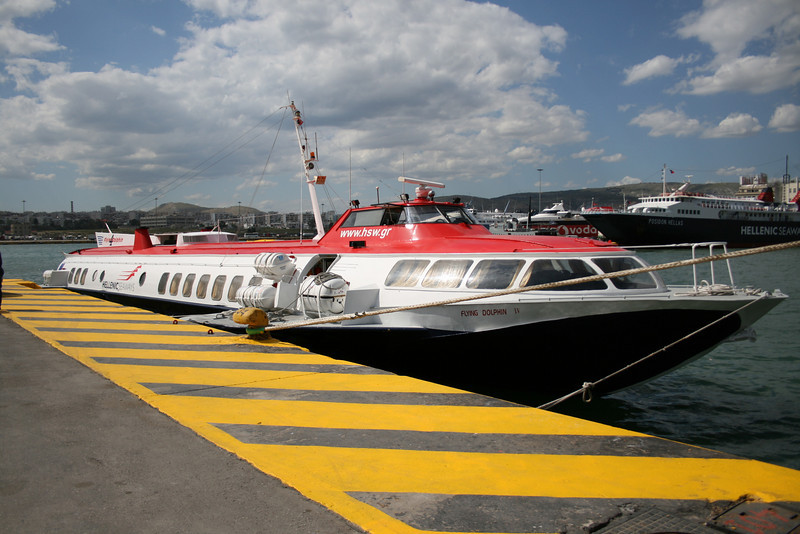 2008 - HSC FLYING DOLPHIN IV moored in Piraeus.
