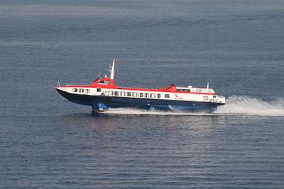 2011 - Hydrofoil FLYING DOLPHIN XIX on route from Piraeus to Aegina.