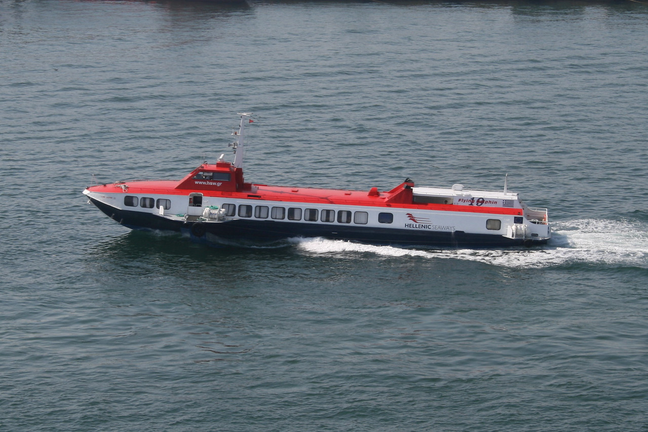 2011 - FLYING DOLPHIN XIX departing from Piraeus to Aegina.