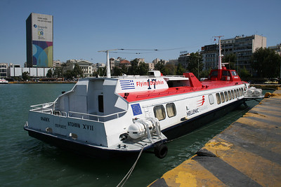 2009 - Hydrofoil FLYING DOLPHIN XVII moored in Piraeus.