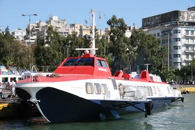 2009 - Hydrofoil FLYING DOLPHIN XVIII moored in Piraeus.