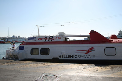 2009 - Hydrofoil FLYING DOLPHIN XVIII moored in Piraeus.