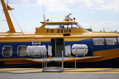2008 - Hydrofoil FLYING DOLPHIN ZEUS moored in Piraeus.