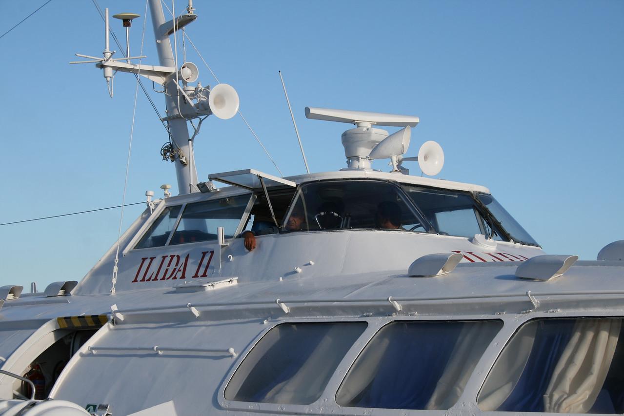 2010 - Hydrofoil ILIDA II in Corfu.