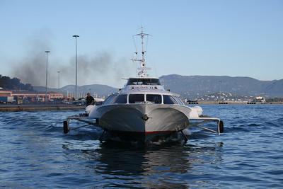 2010 - Hydrofoil ILIDA II arriving in Corfu.
