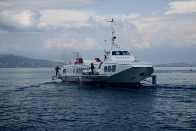 2008 - Hydrofoil ILIDA departing from Corfu.