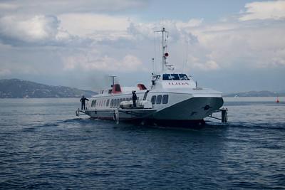 2008 - Hydrofoil ILIDA departing from Corfu.