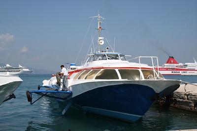 2009 - H/F SANTA III mooring in Corfu.