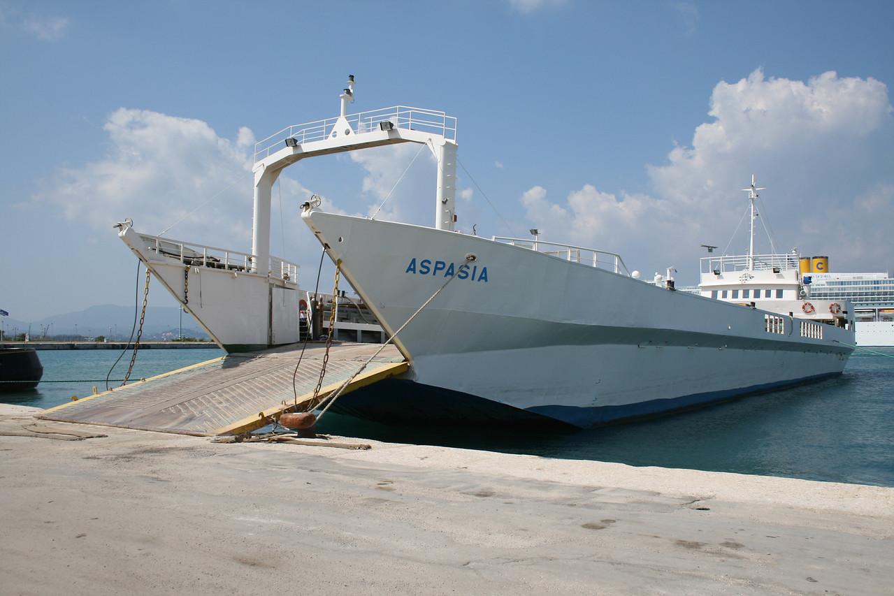 Open ferry ASPASIA in Corfu.