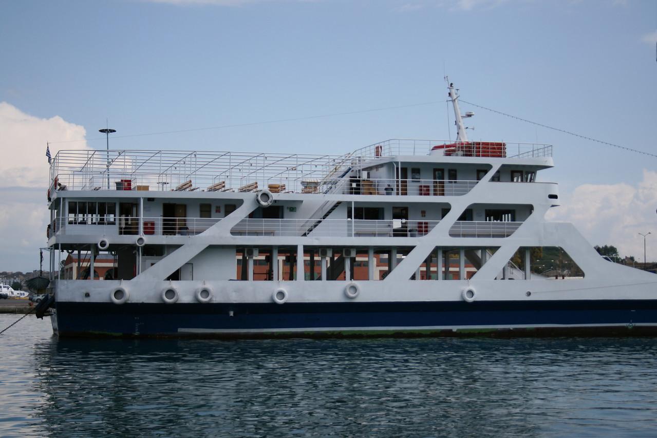 F/B ELENE moored in Corfu.