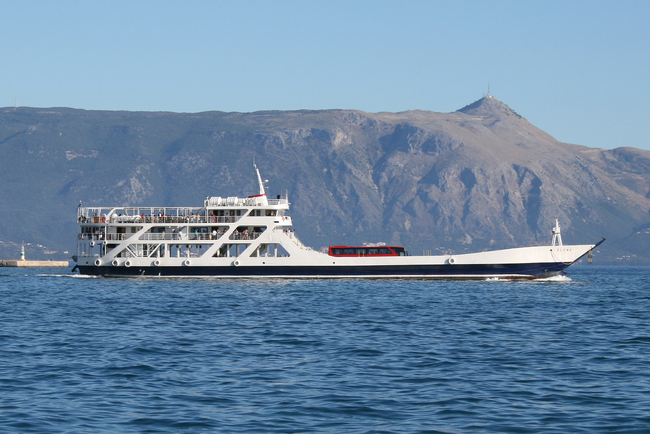 F/B ELENE departing from Corfu.