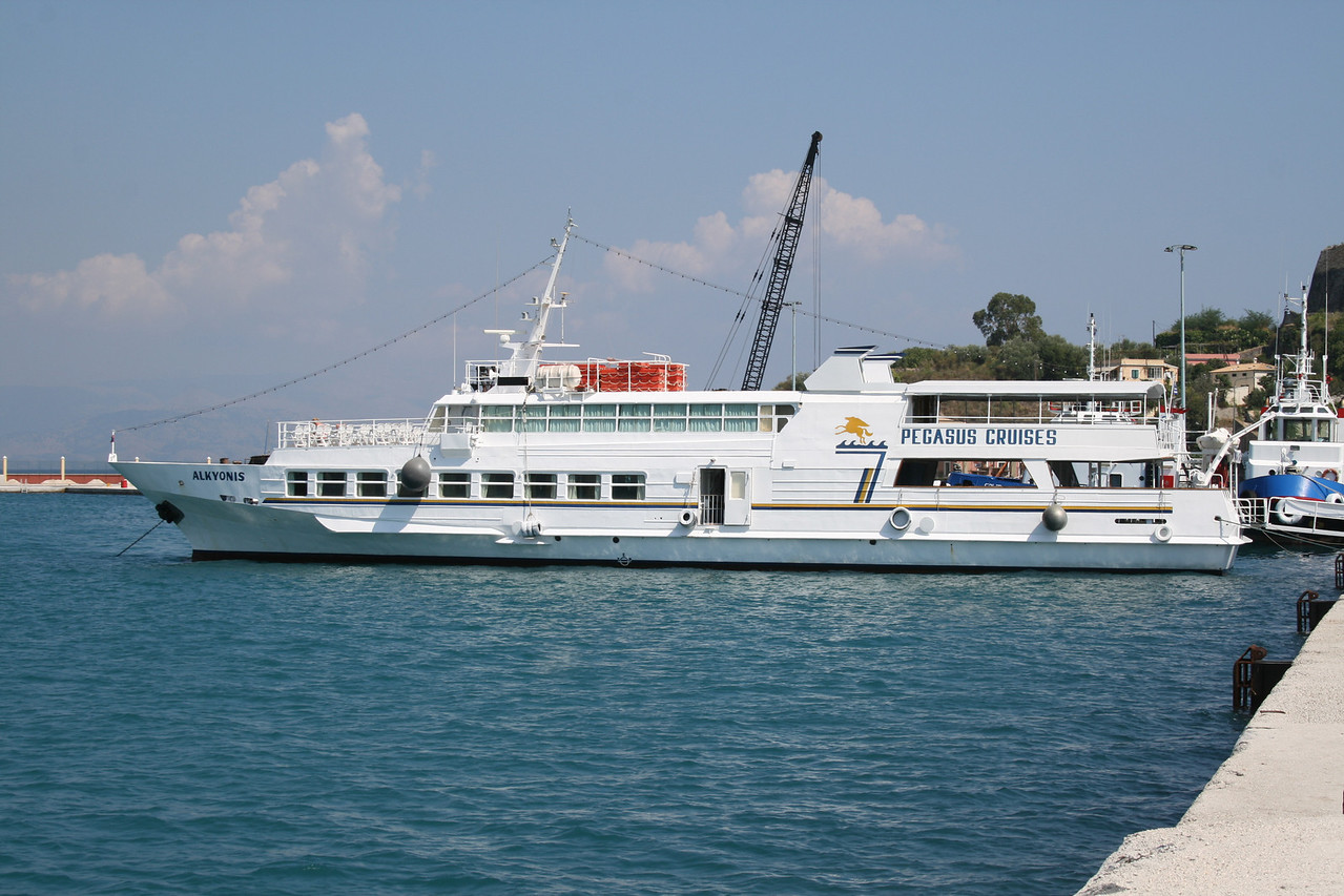 Moored in Corfu.