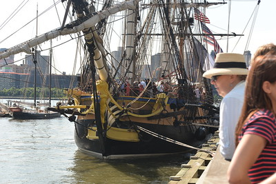 """""""HERMIONE""""  -  La Fayette's  frigate  in  New  York  2015"""