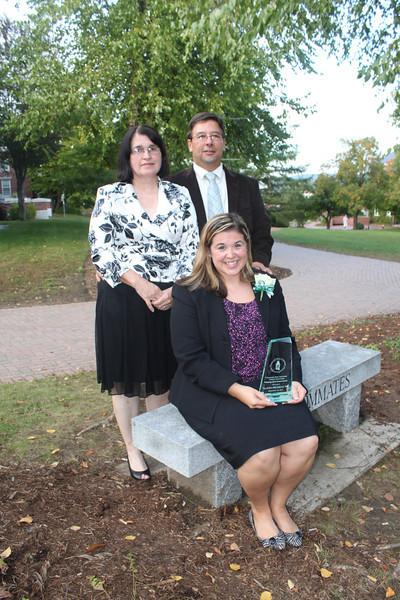 Distinguished Alumni Service Award Recipient Laura Brusseau '04 and family