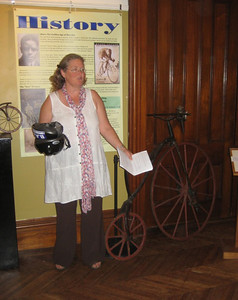 Some of us attended a History of the Bicycle program at Wistariahurst Museum, June 3.