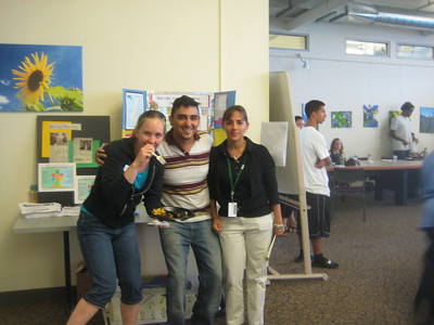 Three recently-hired HFFPC coordinators: Liz Budd (YMCA), Diego Angarita (NR), and Ana Jaramillo (HHC)