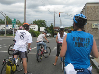 "We had fun on this first ""Take over the streets"" bike ride!  June 17, 2010.   A small group, but very enthusiastic -- ringing our bike bells and shouting for joy as we cycled through the community.   For more photos of this ride, see separate Bike Group album."