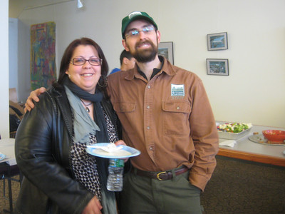 Maria Salgado and Josh Knoz, at HFFPC Open House, March 24, 2010
