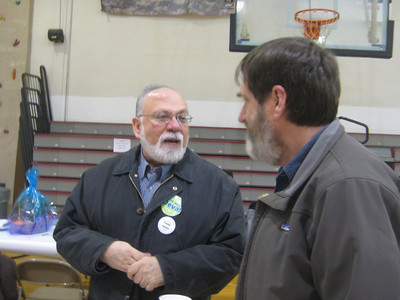 Carlos and Ken. Community dinner at the Boys and Girls Club. March 26, 2010.