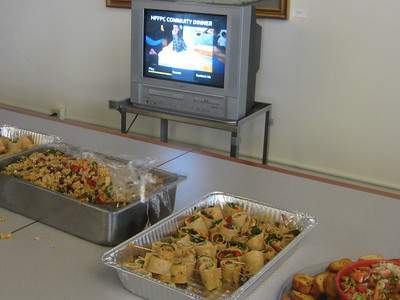March 24, 2010, Open House at Holyoke Health Center, with display of images from the recent Community Dinner.