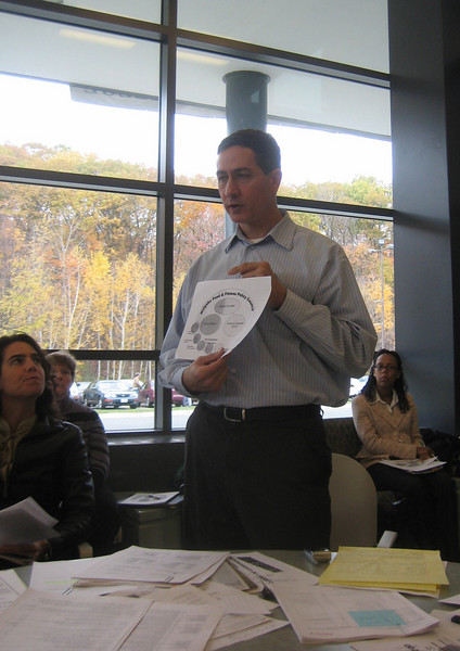 November 8, 2007  Jeff shows a diagram of HFFPC organization including the Subcommittees.