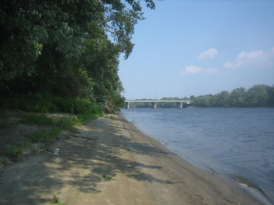 View upstream, getting closer to I-391 Bridge.