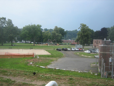 Panorama view #2. This view shows the popular new spray park area (in distance) at Springdale.
