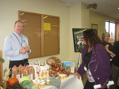 Display of  products from local and regional farms and orchards.