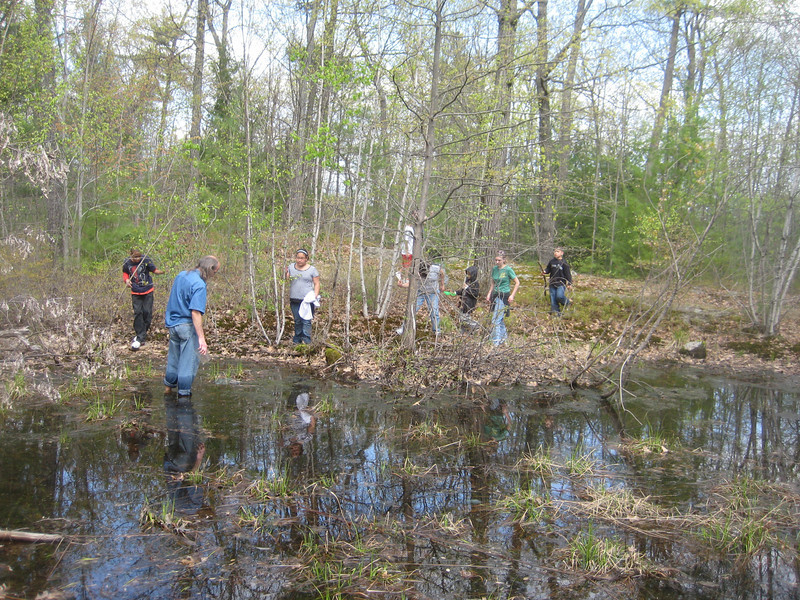 Next we walked around to the opposite side of the vernal pool