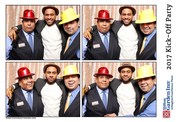 Hilton Garden Inn Arlington/ Courthouse Plaza 2017 Kick-Off Party Photo Booth