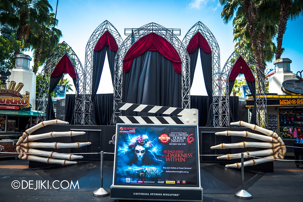 Universal Studios Singapore - Halloween Horror Nights 6 Before Dark Day Photo Report 1 - Hollywood Opening Scaremony stage