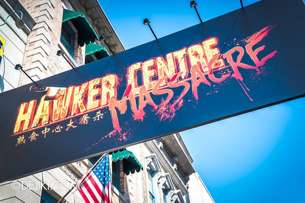 Universal Studios Singapore - Halloween Horror Nights 6 Before Dark Day Photo Report 1 - Hawker Centre Massacre marquee