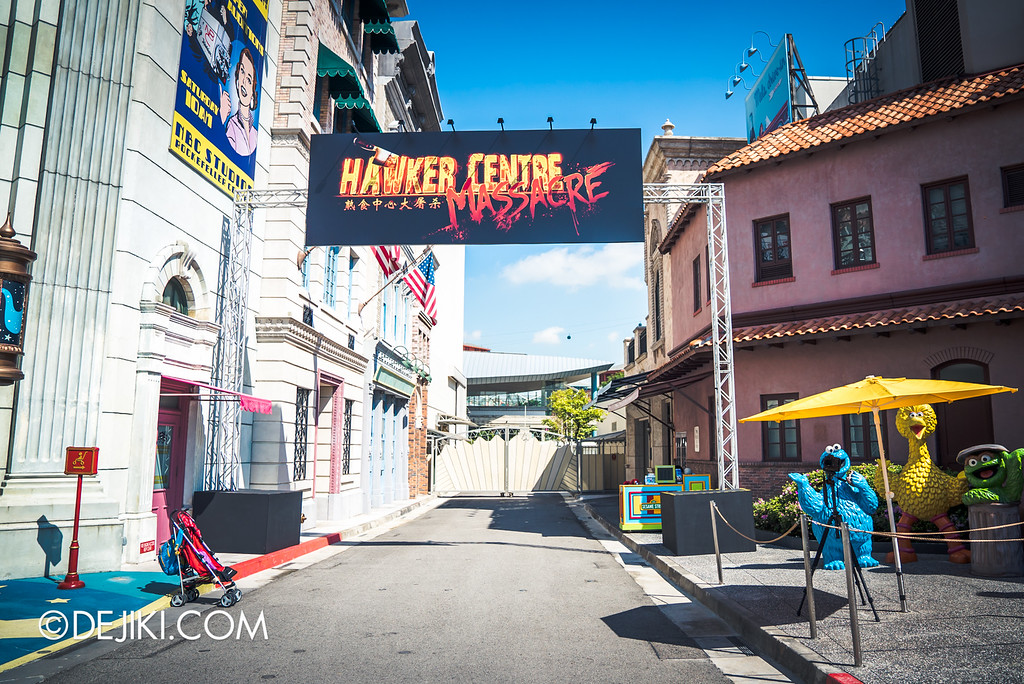 Universal Studios Singapore - Halloween Horror Nights 6 Before Dark Day Photo Report 1 - Hawker Centre Massacre