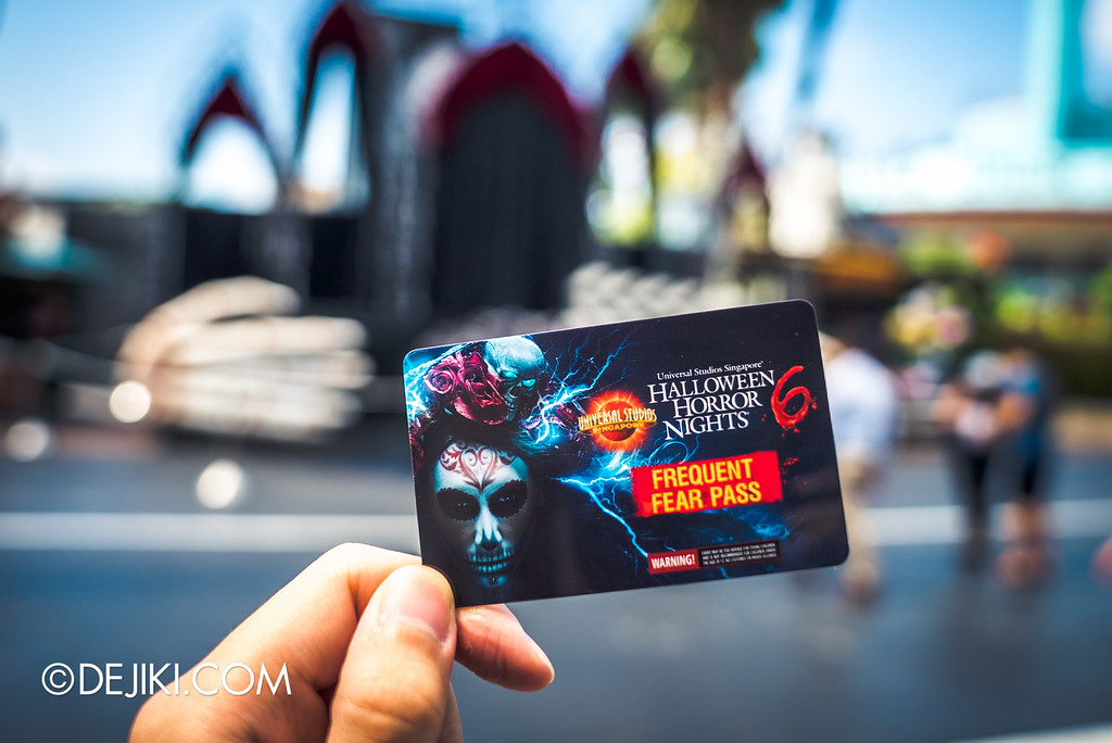 Universal Studios Singapore - Halloween Horror Nights 6 Before Dark Day Photo Report 1 - Frequent Fear Pass card