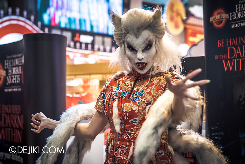 Universal Studios Singapore - Halloween Horror Nights 6 Before Dark Day Photo Report 1 - Hu Li Fox Lady Spirit hungry