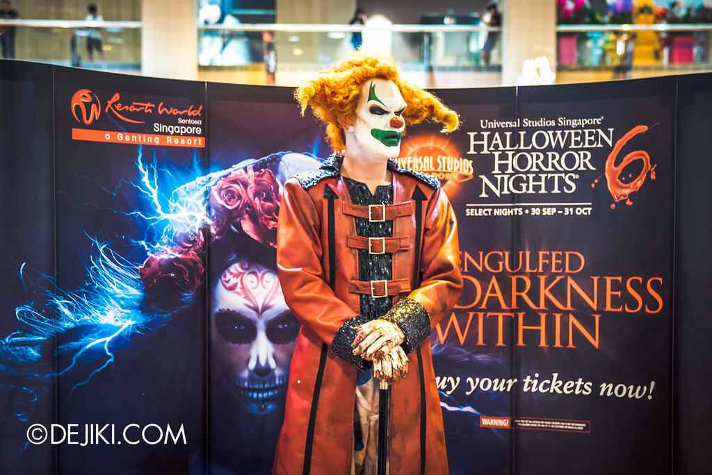 Universal Studios Singapore - Halloween Horror Nights 6 Before Dark Day Photo Report 1 - Jack the Clown at HHN6 roadshow