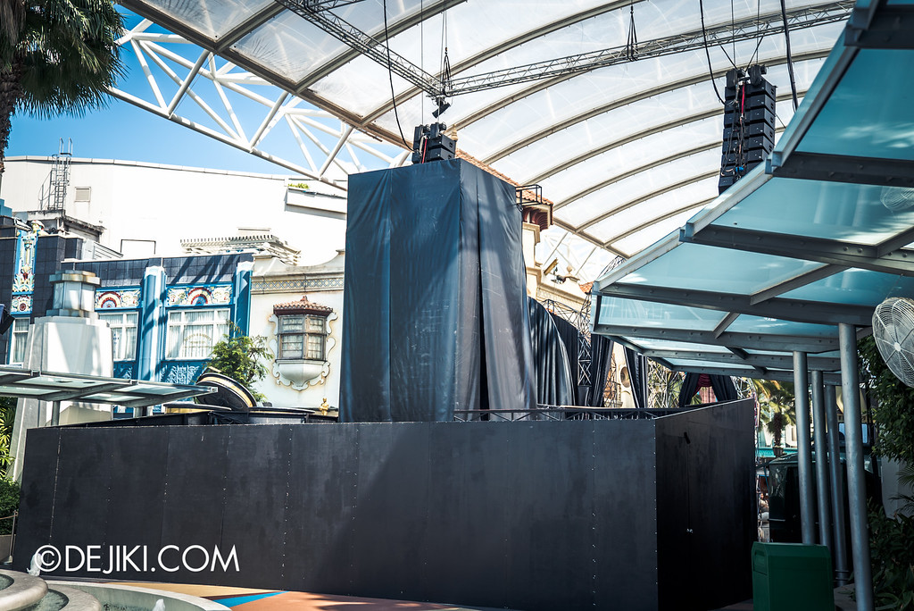 Universal Studios Singapore - Halloween Horror Nights 6 Before Dark Day Photo Report 1 - Hollywood Opening Scaremony stage tower