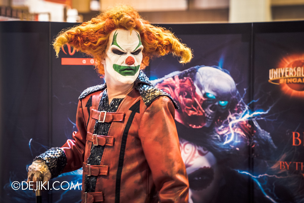 Universal Studios Singapore - Halloween Horror Nights 6 Before Dark Day Photo Report 1 - Jack the Clown in the City 3