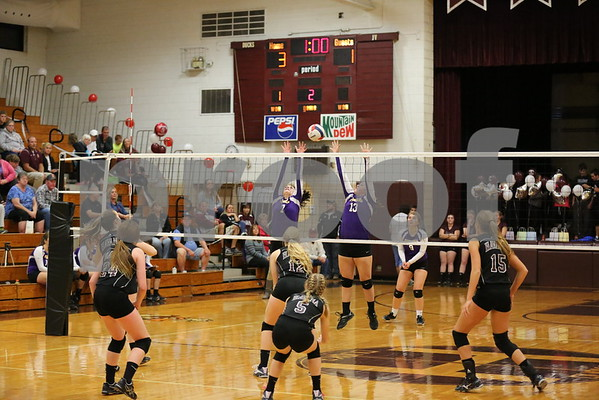 HHS Volleyball Senior Night 10-13-16