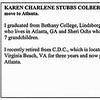 Karen Charlene Stubbs/Colberg - HHS-1956