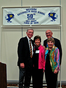 "L-toR: Gerald Theron ""Terry"" Elliott and his wife Alyce and Deanna and Noel Major Klein - October 14, 2006 - HHS 50th reunion"