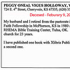 Peggy Oneal Vigus/Holloway - HHS-1956