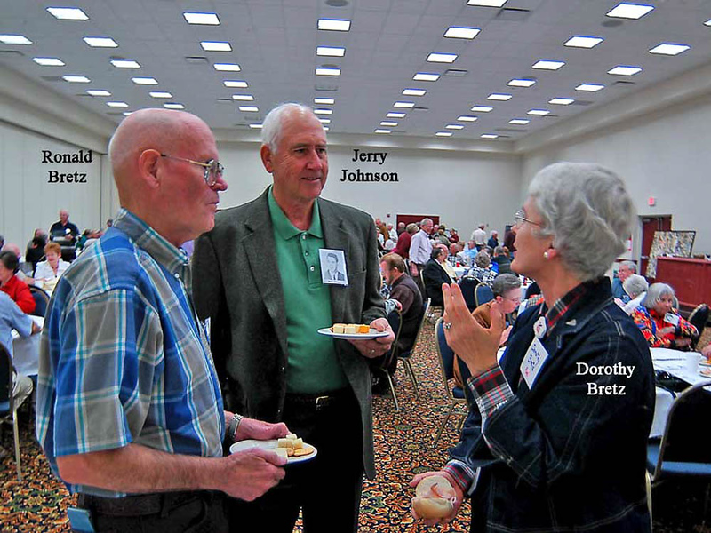 Ronald Bretz, Jerry Johnson, Dorothy Bretz