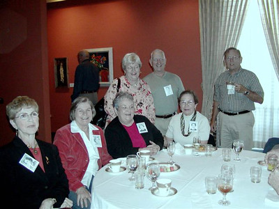 L-to-R: Seated - Thelma Elaine (Barnes) Ward, Wanda (Manges) smith, Sharon Lee (Havely) Mallory, Hazel Marie (Hageman) Hodge - Standing - Monte summers, Wright Stevenson Summers, Frank Galen Hodge - October 2006