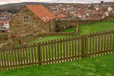 VIEW OF WHITBY FROM WHITBY ABBY-1