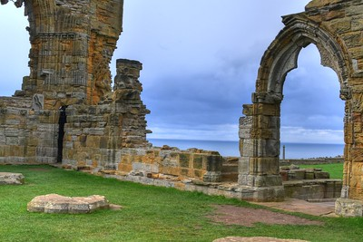 WHITBY ABBEY AND NORTH SEA-1