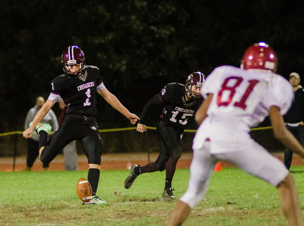 . Fitchburg and Groton-Dunstable in action during the game on Friday, October 20, 2017. SENTINEL & ENTERPRISE / Ashley Green